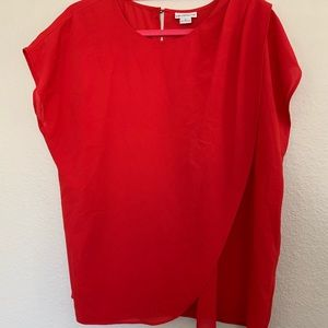 Liz Claiborne Draped Front Red Blouse Extra Large